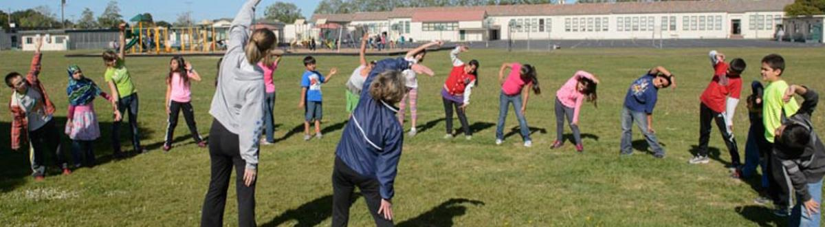 Kids Stretching, Just Run